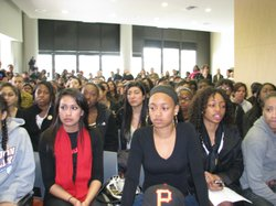 UCSD students attend a campus forum on February 19, 2010 to discuss recent ra...