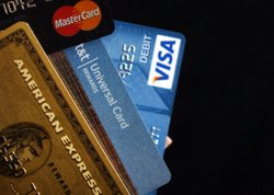 In this photo illustration of major U.S. credit cards.