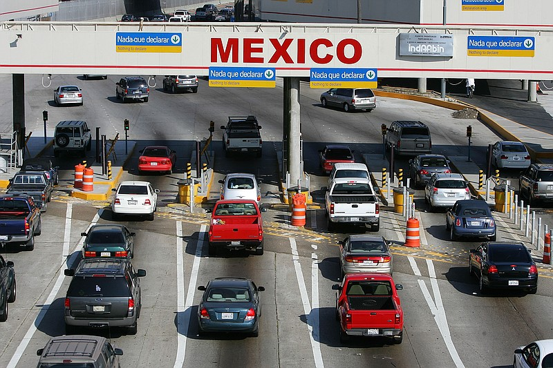 Traffic in the U.S. enters Mexico at the San Ysidro border crossing, the worl...