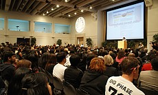 UCSD administrators held a teach-in on February 24, 2010 to address student concerns following a racially-themed party.