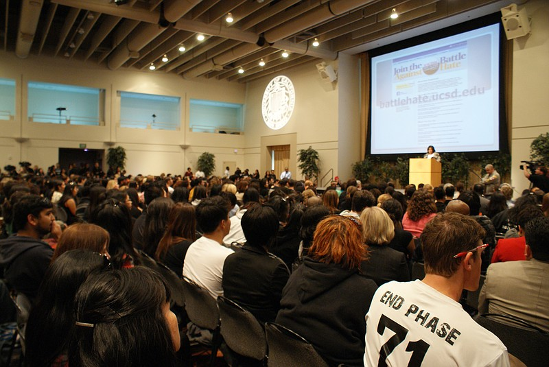 UCSD administrators held a teach-in on February... ()