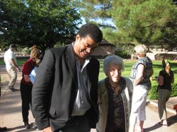 Neil deGrasse Tyson and Patricia Tombaugh, wife of Pluto's discoverer.