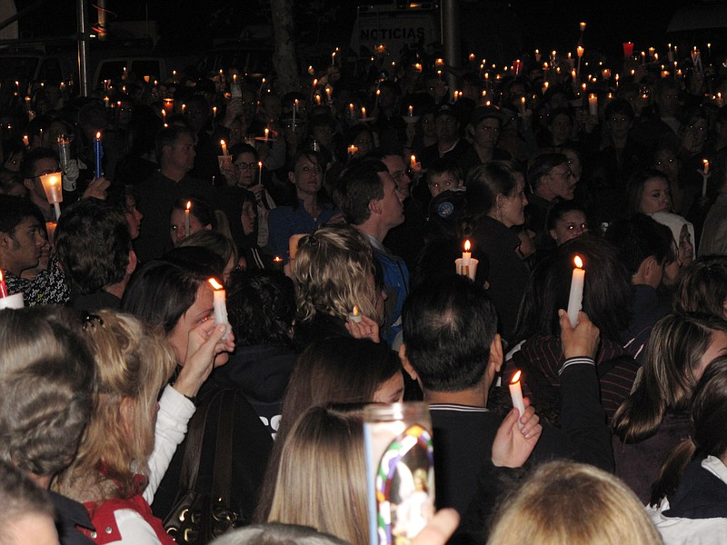 Thousands of mourners gathered at St. Michael's...