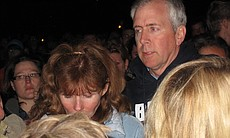 Chelsea King's grieving parents, Kelly and Brent King, thank their friends and the community for their love and support during a candlelight vigil in memory of their daughter on March 2, 2010.