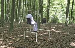 An Oscar Prinsen sculpture, one of his playground structures for adults.