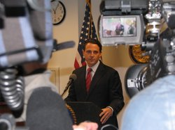 San Diego County Assembly Nathan Fletcher talks about reviewing California's sex offender laws at a news conference on March 9, 2010.