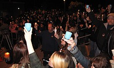 Following the tributes at a candlelight vigil for slain 14-year-old Amber Dub...