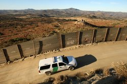 U.S. Border Patrol agents carry out special operations near the US-Mexico bor...