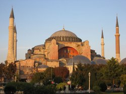 Istanbul's Hagia Sophia marks the high point of Byzantine architecture.
