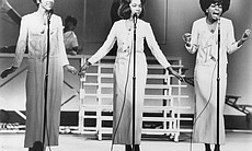 "Diana Ross and the Supremes perform on stage for ""The T.A.M.I. Show."""