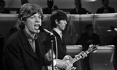 "The Rolling Stones perform on stage for ""The T.A.M.I. Show."""