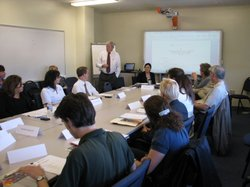 San Diego Unified's 15-member superintendent search committee met for the first time at district headquarters on March 11, 2010.