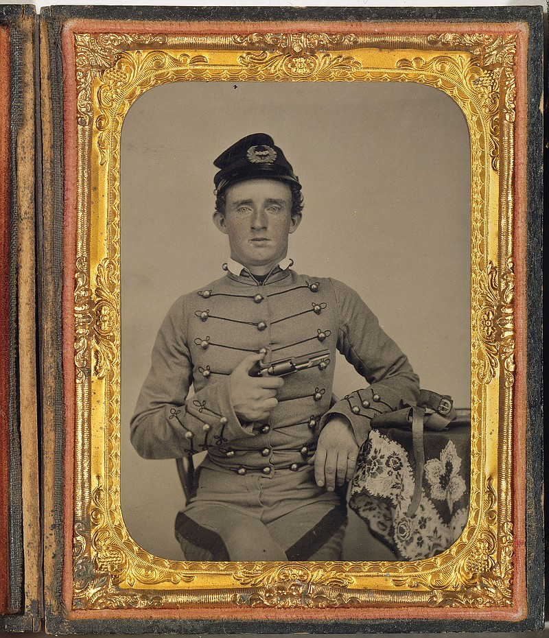 George Armstrong Custer as a cadet at West Point. Ambrotype 1860 Image: 10.8 ...