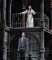 "American soprano Ailyn Pérez (Juliet) and American tenor Stephen Costello (Romeo) in San Diego Opera's ""Romeo and Juliet"". March 2010."