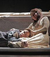 "American soprano Ailyn Pérez and tenor Stephen Costello perform in ""Romeo and Juliet"" in 2010."