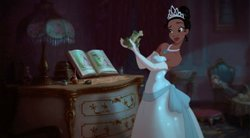 "Tiana, in Disney's ""The Princess and the Frog."""