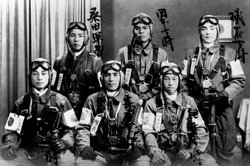 Japanese pilots embarked on one-way missions in a desperate attempt to damage the US fleet supporting the invasion of Okinawa. On April 6, 1945, 355 Japanese planes began the first of 10 waves of kamikaze attacks that would claim the lives of 1,900 Japanese pilots.