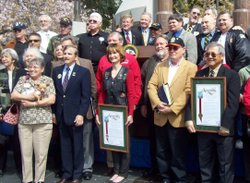 Vietnam veterans were honored by Governor Schwarzenegger recently at the Viet...
