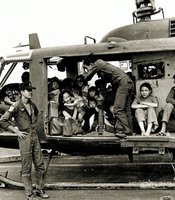The relief could be seen on both the pilots' and refugees faces when they safely landed on the USS Midway.  Some had departed Saigon without knowing whether they would find an aircraft carrier willing to let them land before they ran out of fuel.