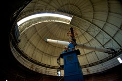 The 40-inch refracting telescope at Yerkes Observatory in Wisconsin.