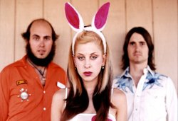 Gram Rabbit members Ethan Allen, Jesika von Rabbit and Todd Rutherford. Gram Rabbit plays The Casbah on Saturday night.