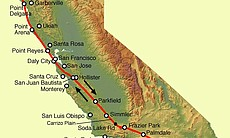The San Andreas Fault is the sliding boundary b...