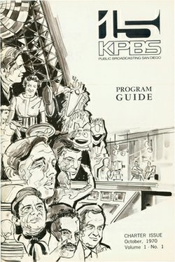 KPBS' first program guide, published in 1970.