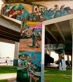 Chicano Park, located south of downtown near the Coronado Bridge on-ramp, is covered in powerful murals documenting Mexican and Chicano history.