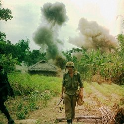 Marine on a search-and-destroy mission in Vietnam.