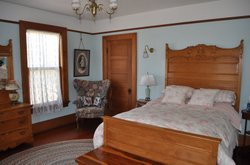 Interior shot of the bedroom in the historic Olicer H. Noyes house, National City.