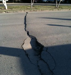 The 7.2 magnitude Easter earthquake damaged hundreds of kilometers of roads i...