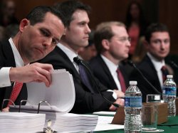 Current and former Goldman Sachs executives testify before a Senate subcommit...