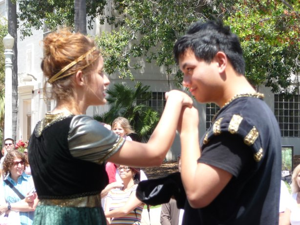 "A selection from ""Romeo and Juliet"" was one of many scenes on display at the San Diego Student Shakespeare Festival."