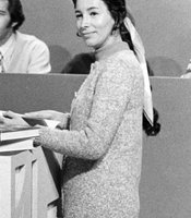 Gloria Penner on pledge set in 1971.