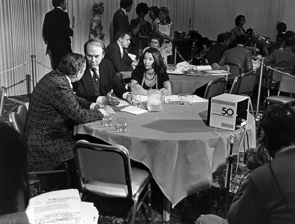 Gloria Penner covered many of the national political conventions for KPBS since 1976.