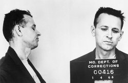 Mug shot of James Earl Ray, assassin of Martin Luther King Jr. Ray was finall...