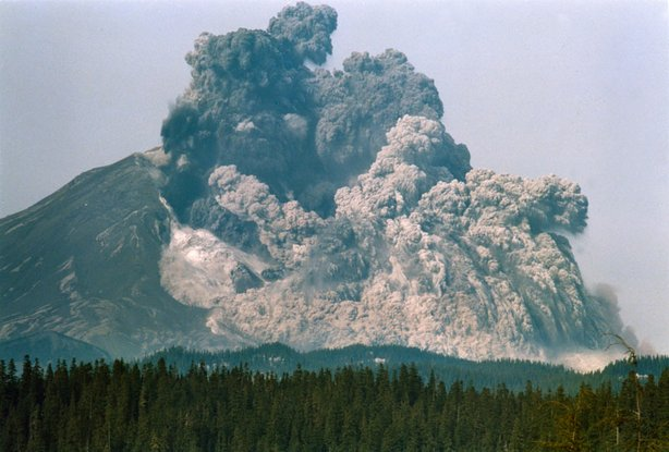 Mt. St. Helens eruption.