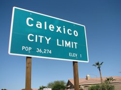 The Calexico freeway sign is pictured in this undated photo.