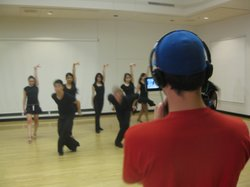 UCSD's Dancesport team is seen here practicing for their upcoming