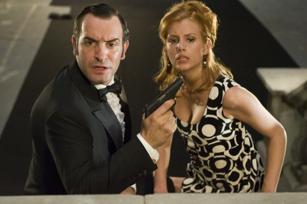 "Jean Dujardin and Louise Monot are fighting Nazis in Brazil in ""OSS 117: Lost in Rio"""