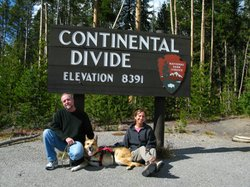 """Jim Nelson and Rene Agredano with their dog named Jerry, """"Why We Love Cats And Dogs"""" participants."""
