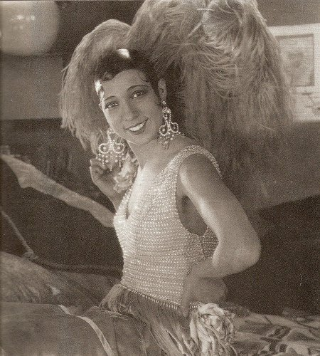 "Josephine Baker, Paris makeover, in the film ""Siren of the Tropics"""
