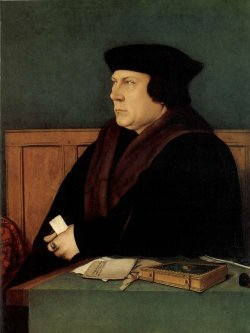 Historical painting of Thomas Cromwell by Hans Holbein the Younger, who is also a character in this book.
