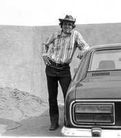 "Ken Kramer on assignment in Cabo San Lucas, Mexico in 1973.  A new highway in Baja California became the subject of a five-part series on NPR's ""All Things Considered.""  Ken traveled along the tourist road from one small town to the next in the Mercury Capri."