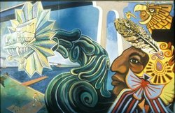 Image of a Chicano Park mural in San Diego's Barrio Logan neighborhood.