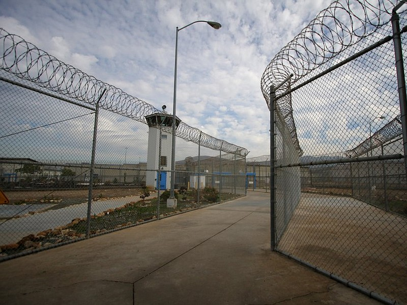 The entrance to the R.J. Donovan Correctional Facility in Otay Mesa is shown ...