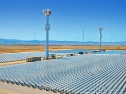 The Sierra SunTower facility utilizes 24,000 mirrors to harness solar energy....