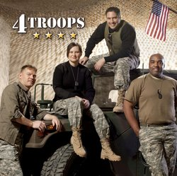 4TROOPS CD graphic. Give at the $60 level during the KPBS TV Campaign and you'll receive a copy of their new CD.
