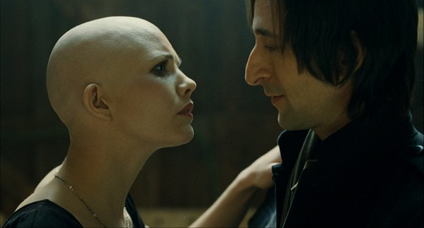 "Delphine Chanéac and Adrien Brody in ""Splice"""