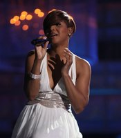 Fantasia performs on stage